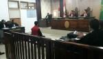 Suasana sidang kasus dugaan pencemaran nama baik Bupati Buteng, Samahuddin yang menjerat wartawan Buteng, Muhammad Sadli Saleh, Kamis 20 Februari 2020. Foto: Adhil/Mediakendari.com