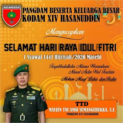 Iklan Pangdam Idul Fitri