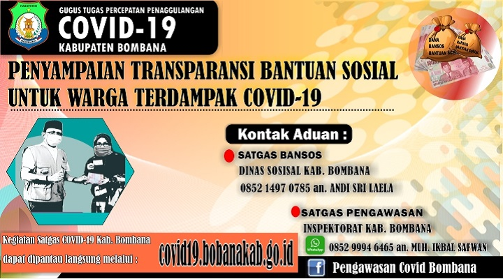 Iklan bombana penyampaian COVID 19