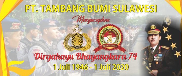 Iklan PT. Tambang Bumi Sulawesi Hut Bhayangkara