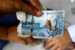 Ilustrasi uang sobek