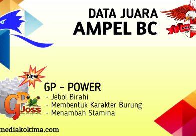 DATA JUARA LATBER AMPEL BC, RABU (21/10/20)