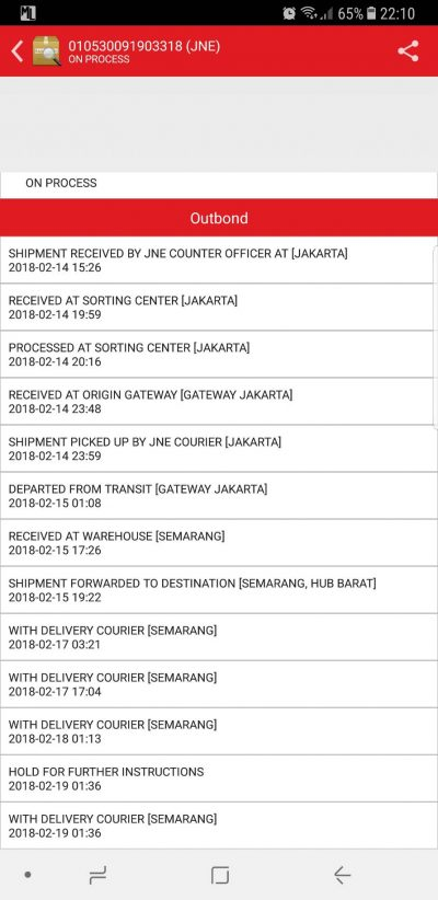 Jne Hold For Further Instructions : further, instructions, Paket, Dibawa, Keliling, Kurir, Media, Konsumen