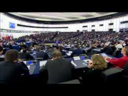 Angela Merkel et François Hollande devant le Parlement européen