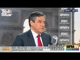Bourdin direct : François Fillon réagit à la polémique Valls-Finale Barca