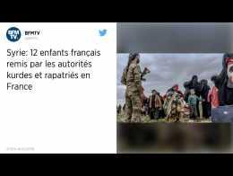 Douze enfants orphelins de djihadistes français rapatriés par la France