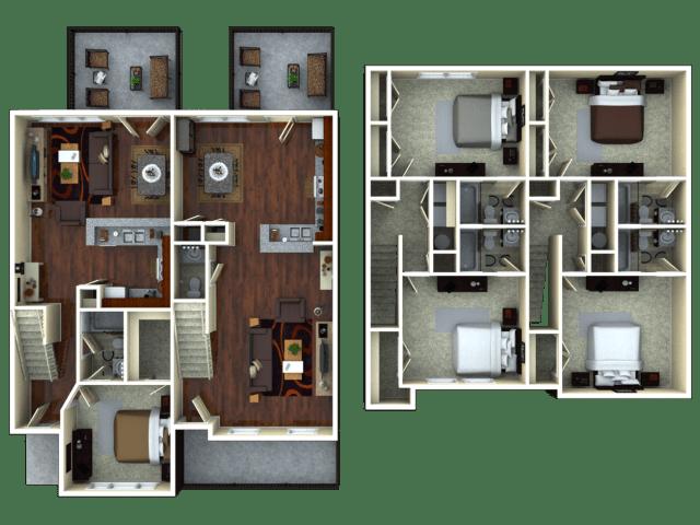 3 bed / 3 bath apartment in tucson az | the retreat at tucson