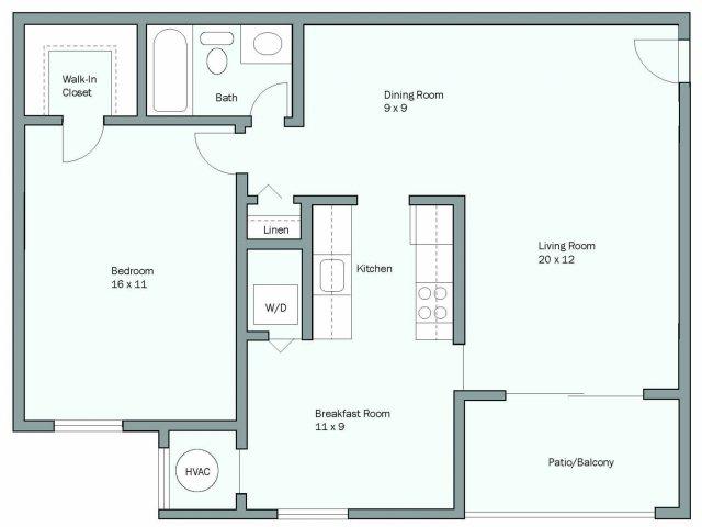 Luxury Apartment Floor Plans in MD  Lerner University Square