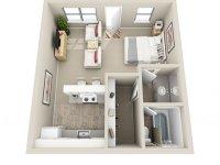 Studio / 1 Bath Apartment in Lawton OK   Sheridan Square ...