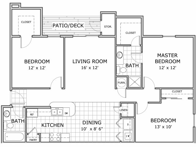 All Floor Plans3 Bedroom Ph1 C