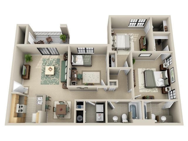 3 Bed / 2 Bath Apartment In Moody AL