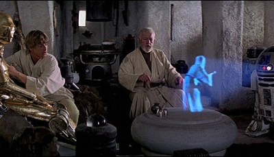 Hologramme in Star Wars (Quelle: Lucasfilm Ltd.)