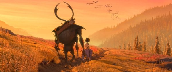 (l-r.) Beetle, Kubo, and Monkey set off on a promising path in animation studio LAIKA's epic action-adventure KUBO AND THE TWO STRINGS, a Focus Features release. Credit: Laika Studios/Focus Features