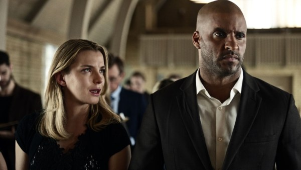 Betty Gilpin as Audrey and Ricky Whittle as Shadow