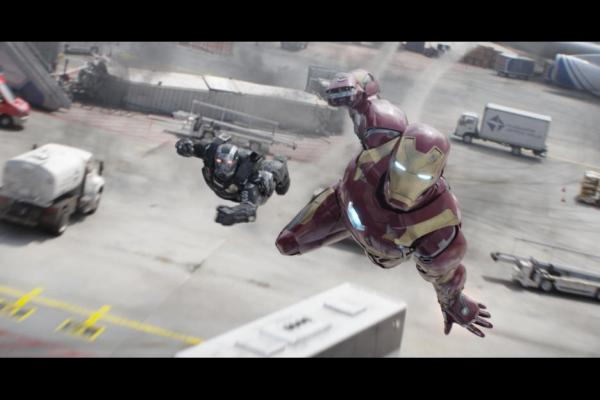 War Machine and Iron Man in 'Captain America: Civil War'