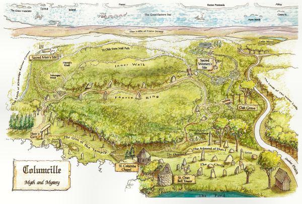 Columcille Megalith Park Map