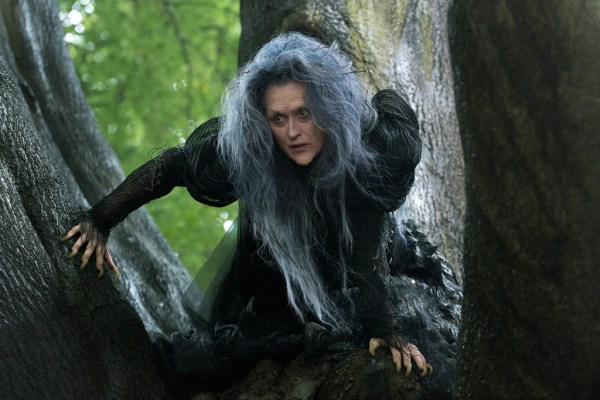 "Meryl Streep ventures ""Into the Woods"" as the Witch who wishes to reverse a curse so that her beauty may be restored. The humorous and heartfelt musical, a modern twist on the beloved Brothers Grimm fairy tales, explores the consequences of the quests of Cinderella, Little Red Riding Hood, Jack and the Beanstalk and Rapunzel—all tied together by an original story involving a baker and his wife, and the witch who cast a spell on them. In theaters Dec. 25, 2014. ©2013 Disney Enterprises, Inc. All Rights Reserved. Photo by: Peter Mountain"