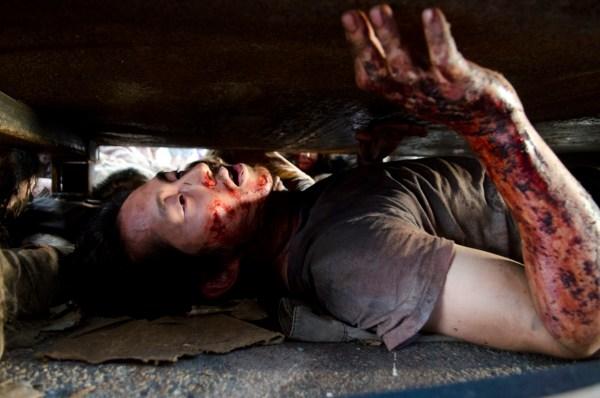 Steven Yeun as Glenn Rhee - The Walking Dead _ Season 6, Episode 7 - Photo Credit: Gene Page/AMC