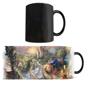 Beauty and the Beast Thomas Kinkade Heat Changing Mug