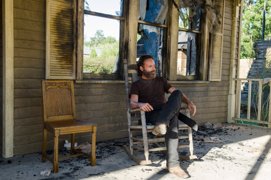 Andrew Lincoln - The Walking Dead _ Season 5, Episode 11 _ BTS - Photo Credit: Gene Page/AMC
