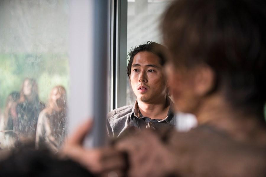 Steven Yeun as Glenn Rhee - The Walking Dead _ Season 5, Episode 14 - Photo Credit: Gene Page/AMC
