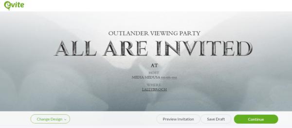 Gray Evite Invitation