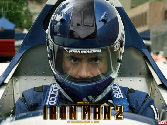Tony Stark in a Race Car