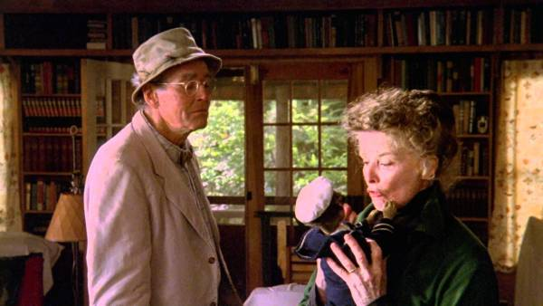 Henry Fond and Katherine Hepburn in On Golden Pond