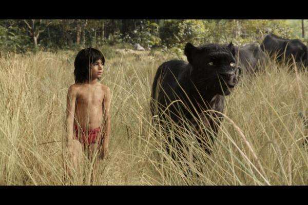 Mowgli and Bagheera in The Jungle Book