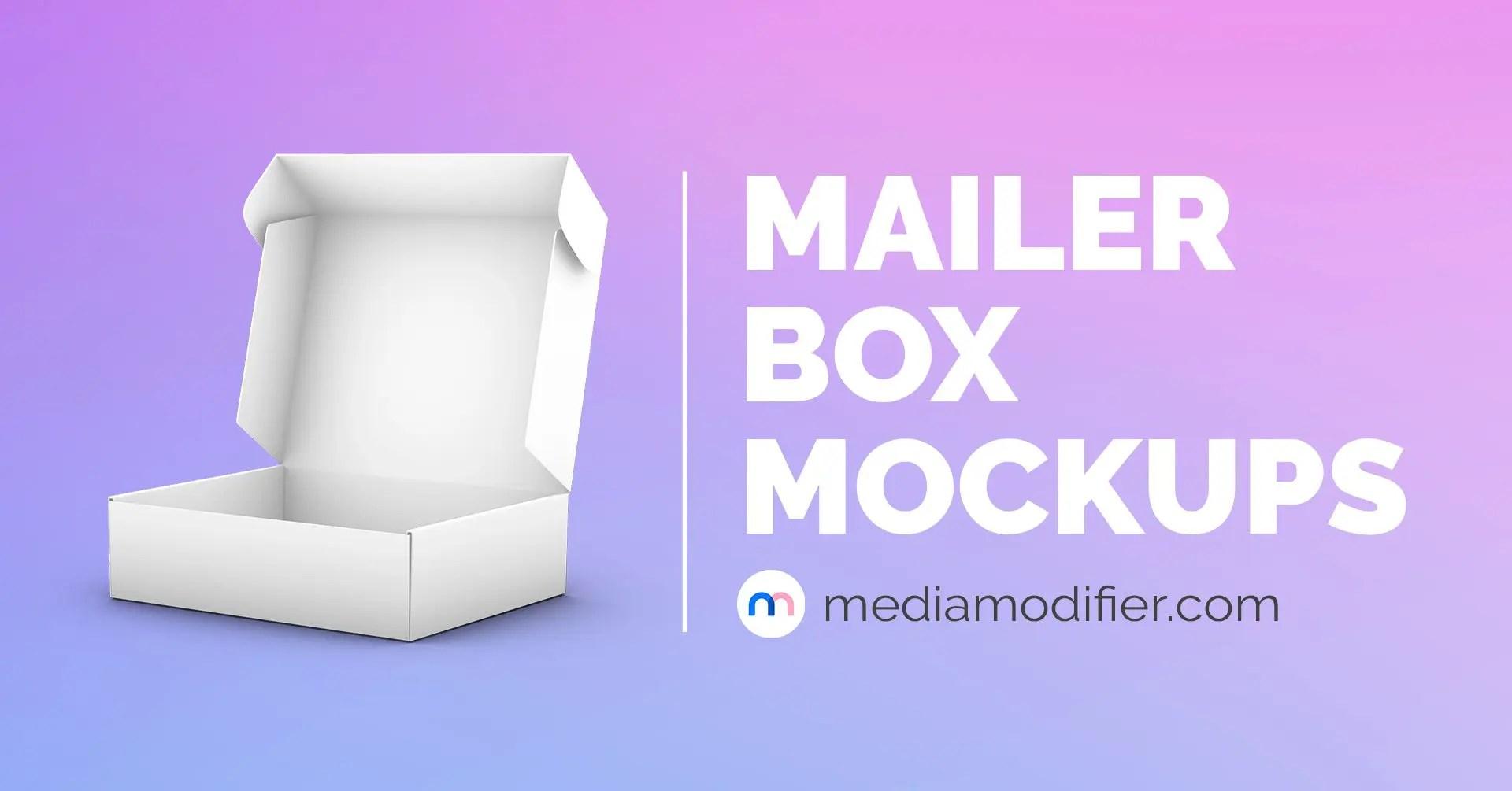 Free open card box mockup description details. 15 Best Mailer Box Mockups Mediamodifier