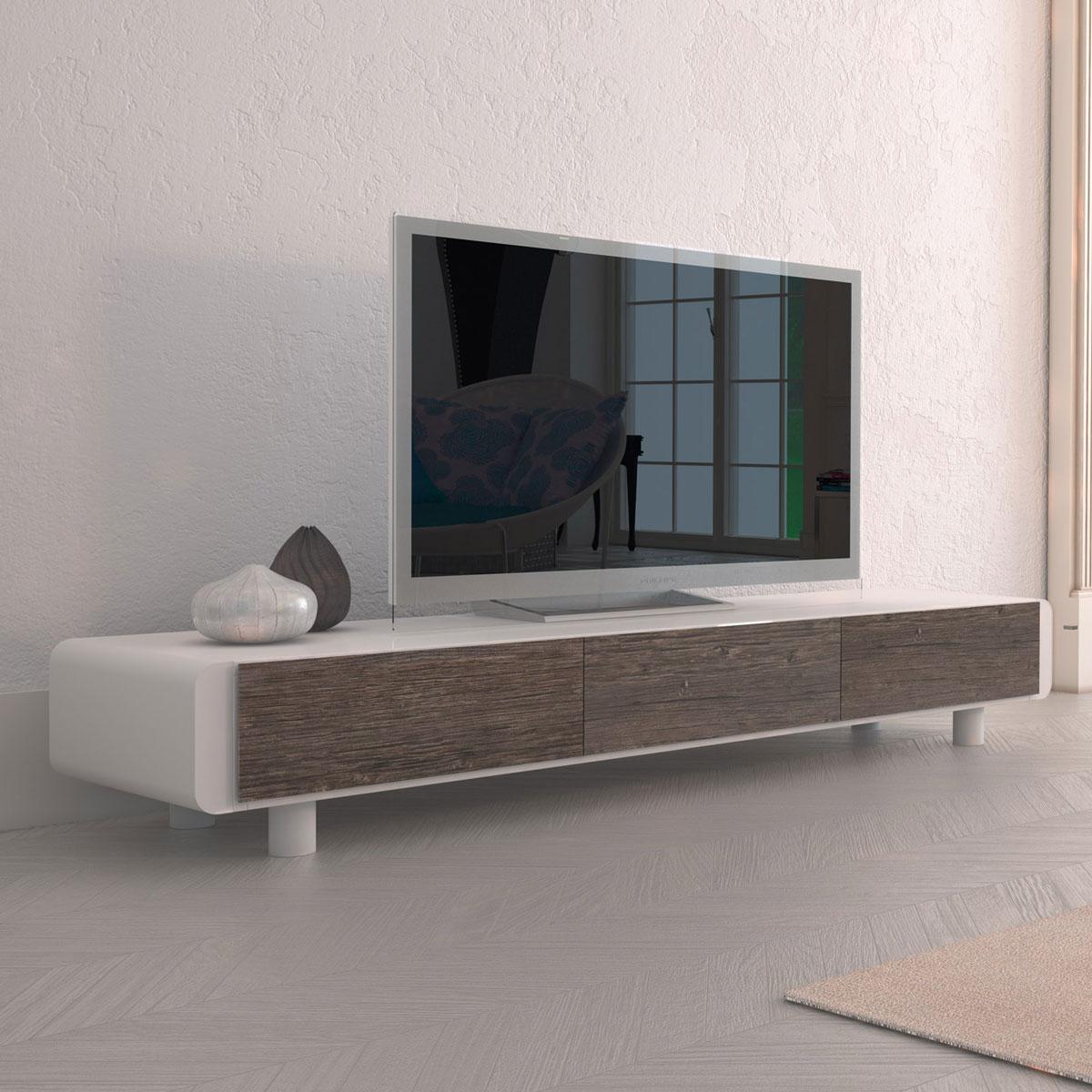 Tv Board Weiß Eiche | Lowboard Cabrera In Weiß 100 Cm ...