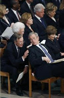 poppy bush complains of media 'hostility'