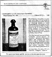 A catalog page offering Cannabis sativa extract.