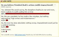 do you believe bush's actions justify impeachment?