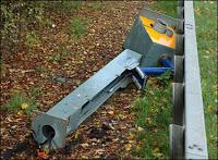 anti-radar group destroys french speed cameras