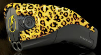 the taser gets leopard print & now plays music!
