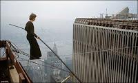 'man on wire' omits 9/11 tragedy