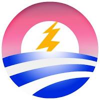 the obama/weatherman logo