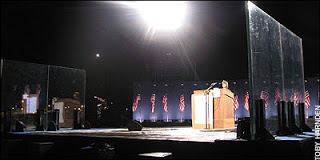 obama's election night speech behind bullet proof glass