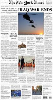 pranksters distribute fake new york times declaring 'iraq war over'