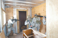 guardsmen train for urban conflict