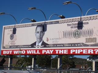 arizona anti-obama billboard pops up: 'who will pay the piper?'