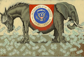 an exhaustive, graphic illustration of all of the differences between the modern democratic & republican parties