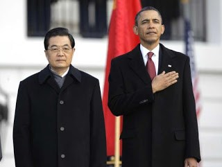 obama formally welcomes chinese president hu jintao