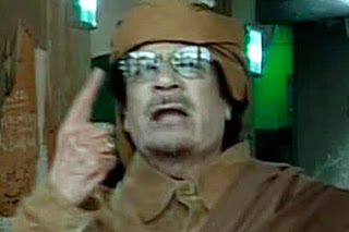 gaddafi flees libya, gives 15-second 'speech' amid uprising