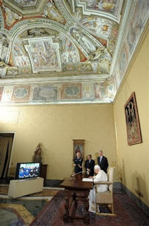 pope benedict makes call to outer space