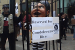 video: portland protests condoleeza rice at university fundraiser