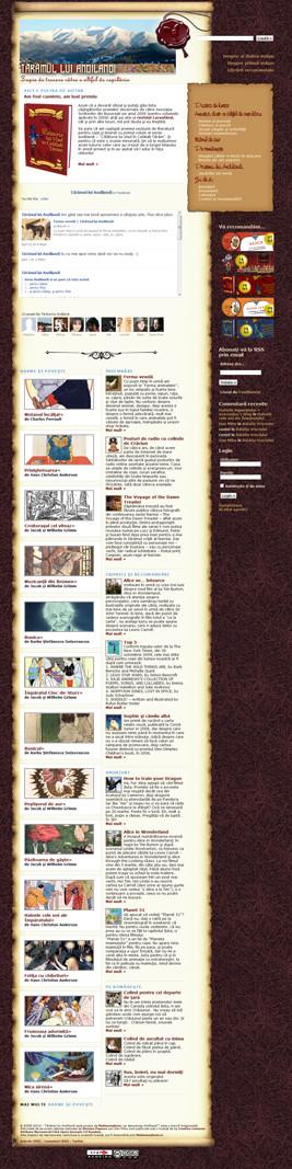 """Captură de ecran. cu website-ul """"Tărâmul lui Andilandi"""""""