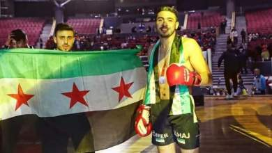 ملاكم سوري يفوز على غريمه الإيراني ويتأهل لبطولة أوروبا للقتال الحر