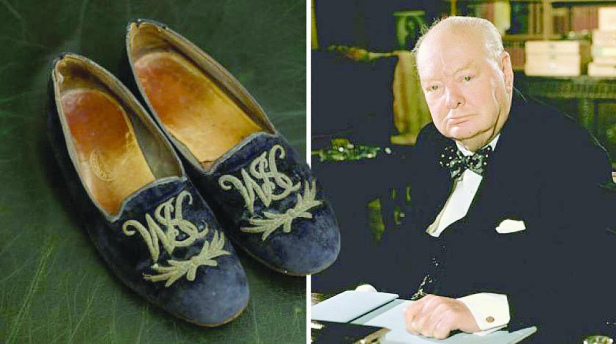"""حذاء """"تشرشل""""يحقق سعراً خياليا في مزاد علني"""